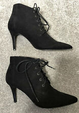 Black ankle boots stiletto high heel size 7 41  Next pointed lace up boho vamp