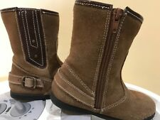 Momogrow brown toddler girl suede like boots size 10