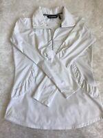 Sunice Women's Zippered Golf Pullover Jacket, M white