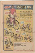 Columbia Bikes Bicycles Super X Deluxe Tourist etc Print Ad Advertisement 1970's
