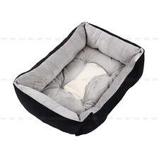 Pet Bed Mattress Dog Cat Pad Mat Cushion Cotton Soft Winter Warm Washable S M L Black XL 90x70x15cm