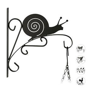 1 x Blumenhaken Schnecke, Blumenampelhalter Metall, Wandhänger Laterne Garten