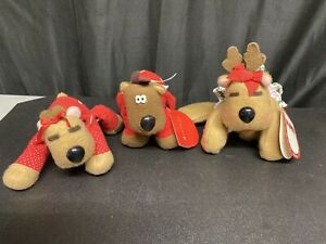 Lot Of Rodney and Friends Reindeer Plush Toy 1987 Burger King Hallmark