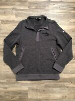 UNDER ARMOUR Mens Warm Pullover Long Sleeve Sweater 1/4 Zip-MEDIUM-Loose Excelle