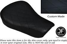 Dos Tono Diamante Negro Custom Para Harley Sportster 883 48 Jinete Vinilo Cubierta de asiento