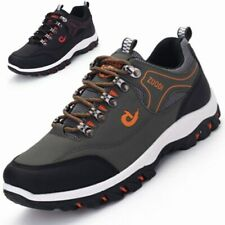 New listing Men's Waterproof Leather Work Boots Water Boots Casual Lace Up Ankle Shoes Size