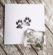 Paw print rubber stamp NEW 2 inch