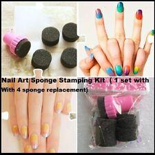Nail Art Sponge  Stamping Kit Polish Transfer DIY Tool  ( 1 set With 4 sponge )