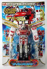 """RARE VINTAGE TRANSFORMING 9"""" ROBOT CHOGOKIN DX POWER RANGERS KO NEW SEALED !"""