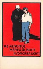 8220) UNGHERIA CONTRO ALCOLISMO LA MORTE  AZ ALKOHOL MEREG L'ALCOOL E' UN VELENO