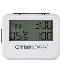 GYMBOSS INTERVAL TIMER AND STOPWATCH WHITE (Excellent Condition)