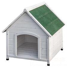 XXL Hundehütte Weiß Hundehaus Tierhaus massivholz Hund Haus Holz wetterfest