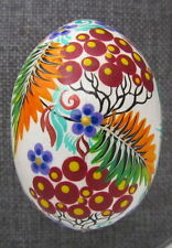 Pysanka Wooden Easter Eggs, Ukrainian Pysanka, White w/ Multicolored Flowers