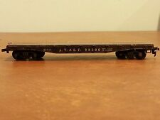 Vintage Model Toy Railroad Train Car A.T. & S.F. 90806 Flat Car Flatbed