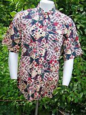 NWOT Gant Salty Dog CRAZY PAISLEY Imperial Poplin SHORT sleeve shirt Sz Lg