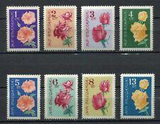 33456) BULGARIA 1962 MNH** Roses 8v Scott #1210/17