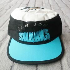 Vintage New 90s San Jose Sharks Pillbox Hat Cap Snapback Rare