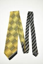VERSACE: Gold, Geometric & Logo, 100% Silk, Club Tie