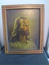 Vtg 1941 Kriebel & Bates Jesus Pic Sick Call KIT Last Rites or Exorcism WOOD BOX