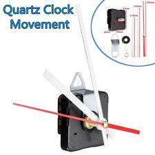 DIY Black Hands Silent Wall Quartz Clock Movement Mechanism Repair Tools w/Hook