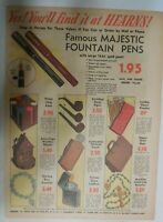 Majestic Pen Ad: Majestic Fountain Pens from 1945 Size 11 x 15 inches