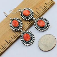 Fine Spiny Oyster Sterling Silver Earrings 14 Grams Perfect
