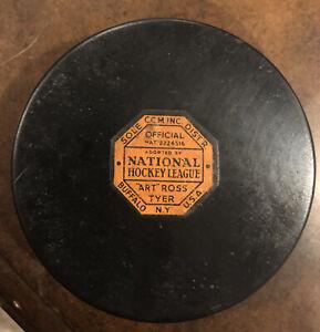 Vintage art Ross Tyer Hockey Puck NHL vintage puck