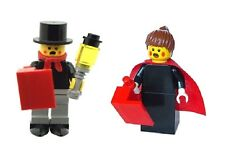 LEGO Male & Female Xmas Christmas Carol Singer Minifig & Lamp & Song Book  NEW
