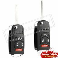 2 Replacement For 2005 2006 2007 Jeep Grand Cherokee Flip Key Case
