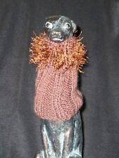 Brown w/ Fringe Italian Greyhound Dog Snood 2 wear w/ dog coat *100% Donation