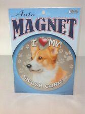 "Dog Lover's 5-3/4"" Round Auto Magnet ""I Love My Welsh Corgi"" New"