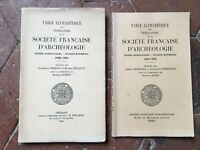 Tavolo Congresso Archeologico Bollettino Monumentale Sté Francese 1956