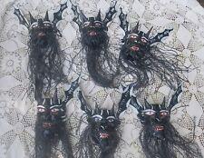 Handmade papier mache bearded evil Mexican devil demon spirit mask adult size