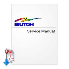 MUTOH RockHopper II /Falcon Outdoor Jr II Service Manual for -PDF File