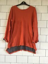 WOMEN'S RALPH LAUREN URBAN VINTAGE RETRO LONG SLEEVED RUSTY LONG CASUAL TOP