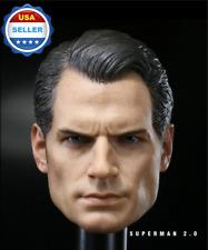 "1/6 Scale Henry Cavill Superman Head Sculpt Clark Kent 2.0 For 12"" Figure Body"