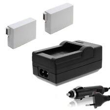 2x Akku LP-E8 + Ladegerät für Canon EOS-550D 600D, 650D, 700D ACCU Charger LPE8