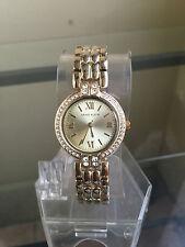 newstuffdaily: NIB ANNE KLEIN Crystal Accented Gold Tone Ladies Watch AK/1892CHG