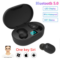 E6S BT5.0 Mini Headset TWS Wireless LED Earphone Waterproof Stereo Earbuds Hot
