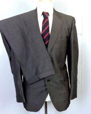 vtg 50s 60s University Seal 100% Wool Sharkskin Shiny Gray Silver 2 Pc Suit 42 R
