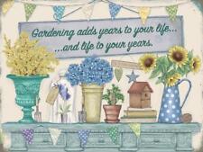 Gartenarbeit fügt hinzu Leben Spruch, Gärtner Geschenk Garten klein Metall