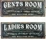 Gents Mujer Habitación Estilo Vintage Placa Metal Cartel para Inodoro Wc Baño