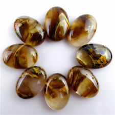 8Pcs Yellow  Volcano Cherry Quartz Oval Cab Cabochon 25*18*7mm HECQ15
