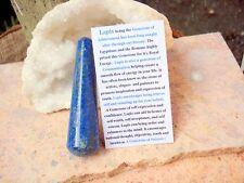 "Lapis Lazuli Healing 3-1/2""-9 cm- Wand -A Grade -6th Chakra-Gem of Royalty"
