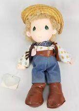 Precious Moments Mickey Applause Cowboy Plush Stuffed Doll Vtg 1985 No Guitar