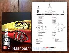 Arsenal v Standard Liege 2019 Europa Programme With Team Sheet October 03/10/19