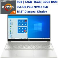 "New HP Pavilion 15.6"" AMD Ryzen 7- upto 512GB SSD- upto 32GB RAM- HDMI-Windows10"