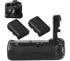 Battery Grip Pack fr Canon EOS 90D 80D DSLR Camera + 2 x LP-E6 Battery as BG-E14