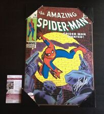 Stan Lee SIGNED The Amazing Spider-Man 70 comic wooden wall art JSA Certified