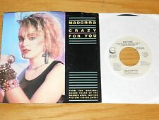 "LOT of 2 MADONNA 45 RPMs with PICTURE SLEEVE - ""CRAZY FOR YOU"" + ""LIVE TO TELL"""